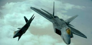 F-22 interceptan Su-24 sirios